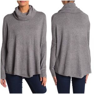Cyrus | Charcoal Oversized Cowl Neck Sweater Large